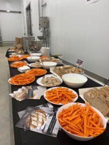 1ère GAMME : carottes lavées, pommes de terre brossées...